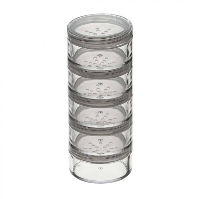 STACKABLE/SIFT:CLEAR/5 JAR/1″