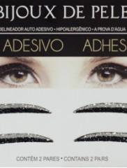 Adhesive Eyeliner classic 1 Black & Silver 2 pair – Αυτοκόλλητα Eyeliner by Bijoux de Pele