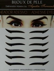 Adhesive Eyeliner classic 1 Black 6 pair – Αυτοκόλλητα Eyeliner by Bijoux de Pele