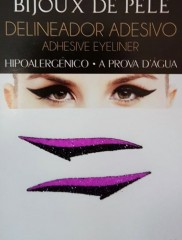 Adhesive Eyeliner Winehouse 1 Black & Violet 1 pair – Αυτοκόλλητα Eyeliner by Bijoux de Pele